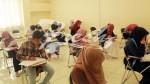 Sejumlah calon mahasiswa yang sedang mengikuti Ujian Mandiri di UIN SGD Bandung (Rendy M Muthaqin)
