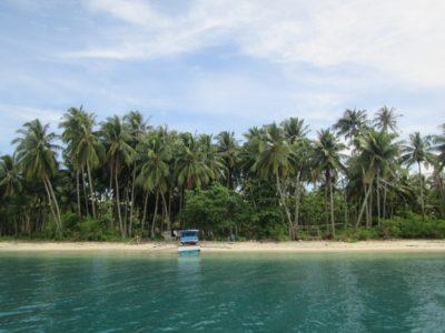 Keindahan Pulau Picago dari tengah laut menggunakan perahu sebelum sampai ke lokasi.