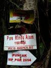 Salah satu petunjuk Pos menuju Puncak Gunung Talamau.